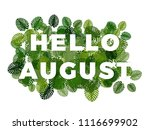 Text Hello August With Smooth...