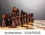 chess board with chess pieces... | Shutterstock . vector #111670232