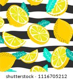 summer pattern with slices and... | Shutterstock .eps vector #1116705212