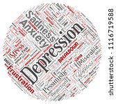 vector conceptual depression or ... | Shutterstock .eps vector #1116719588