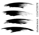 vector set of grunge brush... | Shutterstock .eps vector #1116725078
