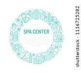 spa center blue banner... | Shutterstock .eps vector #1116725282
