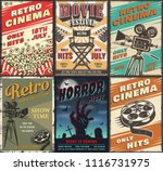 cinema set of posters. vector... | Shutterstock .eps vector #1116731975