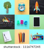back to school collage concept. ...   Shutterstock . vector #1116747245