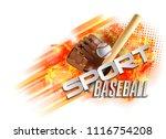 baseball poster with a baseball....   Shutterstock .eps vector #1116754208