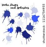 blue vector splashes  hand... | Shutterstock .eps vector #1116754955