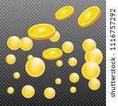 orange slice with juice splash... | Shutterstock .eps vector #1116757292