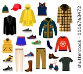 clothes and accessories fashion ... | Shutterstock .eps vector #1116763472