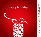 happy birthday card | Shutterstock .eps vector #111676496
