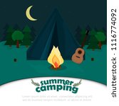 background for summer camp ... | Shutterstock .eps vector #1116774092