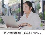 business woman working in... | Shutterstock . vector #1116775472