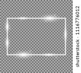 frame with light effects  laser ... | Shutterstock .eps vector #1116776012