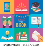set of 9 icons with book... | Shutterstock .eps vector #1116777635
