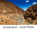 canyon dades gorge is on the... | Shutterstock . vector #1116779306