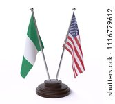nigeria and usa  two table... | Shutterstock . vector #1116779612