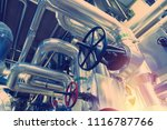 equipment  cables and piping as ... | Shutterstock . vector #1116787766