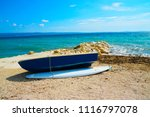 boat at adriatic shore          ...   Shutterstock . vector #1116797078