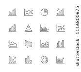 diagram line icons.   Shutterstock .eps vector #1116800675