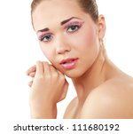 woman eye with exotic style... | Shutterstock . vector #111680192