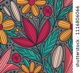 decorative floral seamless... | Shutterstock .eps vector #1116806066