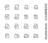 simple pdf file icon set ... | Shutterstock .eps vector #1116808232