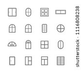 simple window icon set  outline ... | Shutterstock .eps vector #1116808238