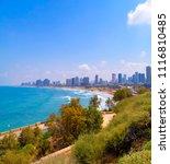panoramic of tel aviv yafo  the ...   Shutterstock . vector #1116810485