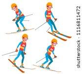 skiing player male vector....   Shutterstock .eps vector #1116811472