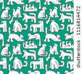 seamless pattern with funny... | Shutterstock .eps vector #1116814472