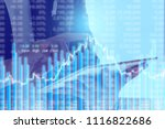 businessman on digital stock... | Shutterstock . vector #1116822686