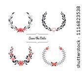 wedding invitation frames set | Shutterstock .eps vector #1116823538