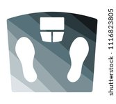 floor scales icon. flat color... | Shutterstock .eps vector #1116823805