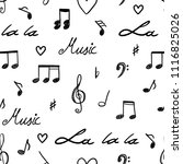music notes and clefs seamless... | Shutterstock .eps vector #1116825026