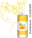 opened aluminum can with fruit... | Shutterstock .eps vector #111682685