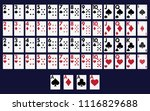 full deck of cards for playing... | Shutterstock .eps vector #1116829688