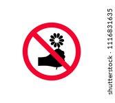 no picking flowers sign. do not ... | Shutterstock .eps vector #1116831635