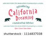 original handmade alphabet.... | Shutterstock .eps vector #1116837038