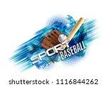 baseball poster with a baseball....   Shutterstock .eps vector #1116844262