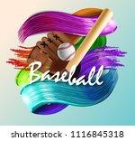 baseball poster with a baseball....   Shutterstock .eps vector #1116845318