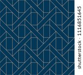 blue geometric pattern vector.... | Shutterstock .eps vector #1116851645