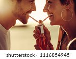 close up of young couple... | Shutterstock . vector #1116854945