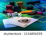 casino dices gambling concept... | Shutterstock . vector #1116856535