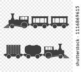 icon of locomotives with... | Shutterstock .eps vector #1116869615