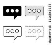 speech bubbles icon vector | Shutterstock .eps vector #1116869855
