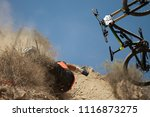 man falls off his mountain...   Shutterstock . vector #1116873275