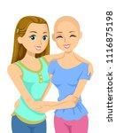 illustration of teenage girls... | Shutterstock .eps vector #1116875198