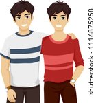 illustration of twin boys in... | Shutterstock .eps vector #1116875258