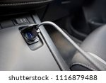 usb cable car double charge... | Shutterstock . vector #1116879488