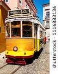 tram in lisbon  | Shutterstock . vector #1116883136
