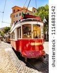 tram in lisbon  | Shutterstock . vector #1116883142